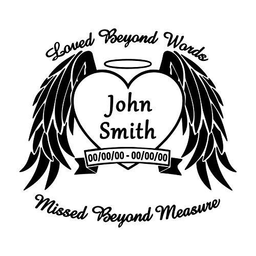 In Loving Memory Of Angel Wings Window Vinyl Decal Personalized Car Window Decal