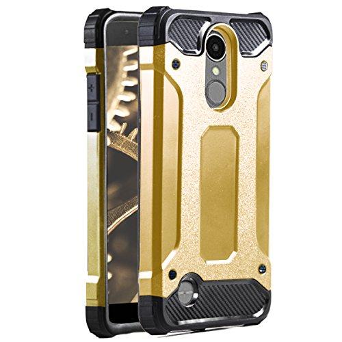 MYCASE Hülle für LG K8 2018 | Hard Cover | Hybrid Design in Gold