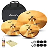 GoDpsMusic Zildjian Complete Set: 20' I Ride, 16' I Crash, 14' I HiHat Pair, Cymbal Bag, Felts, and Sleeves (JF-Z-ZBT