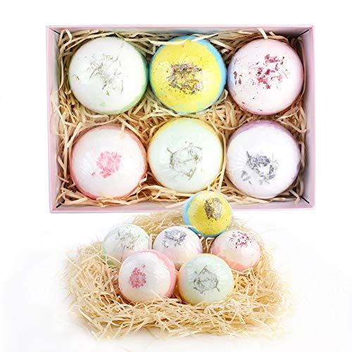 Mengxin 6 Bombe da Bagno Organico naturale palla di sale da bagno Contiene Olio di Palma Lenisce il Corpo Regalo per Mamme Mogli e Bambine