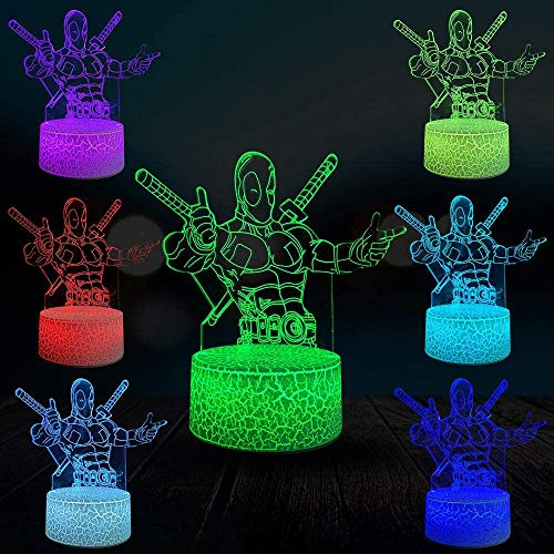 Ultimative 3D-Lampe Multicolor Geschenk Home Stores Dekor Nachtlicht USB LED Tisch Corps Weapon Cable