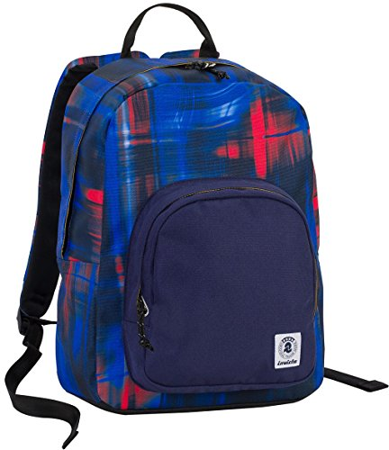 invicta ZAINO OLLIE PACK - Shade Wave Blue Rosso - tasca porta pc padded - scuola e tempo libero americano 25 LT