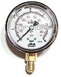 Manometro della glicerina JRA-Longlife 0-6 bar Connessione inferiore attacco G1/4' Dia.63