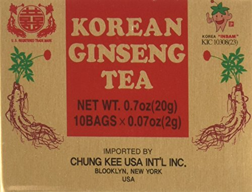 INSTANT KOREAN GINSENG TEA 100 Tea Bags - NET WT 7 oz (200 g)