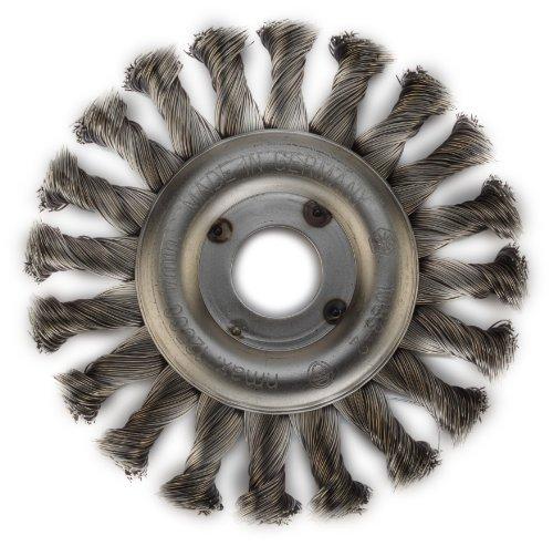 Hikoki 751305 - Cepillo de rueda (acero anudado, 115 x 22,2