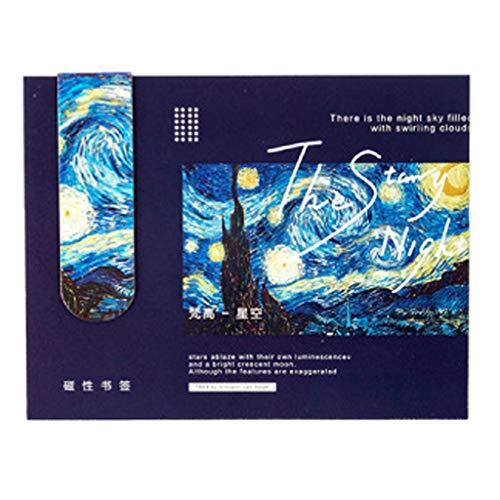 Segnalibri magnetici creativi cdhgsh Van Gogh Letteratura Arte Segnalibri Decorazione Fai da Te Segnalibro di Carta A #