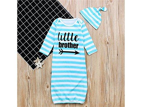 Bébé Cadeau doux Sac de couchage enfant Alphabet anglais Sleepsacks manches longues à rayures Pyjama pour 3–12 mois