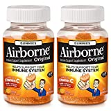 Airborne Zesty Orange Flavored Gummies, 63 count - 750mg of Vitamin C and Minerals & Herbs Immune Support (Packaging May Vary) ( Pack of 2)