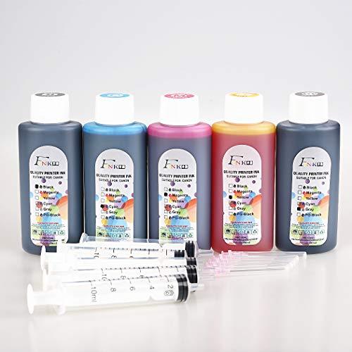 FINK Lot de 5 bouteilles d'encre de qualité pour cartouches d'encre HP 301 302 304 62XL 364 920 950 932 655 934 903