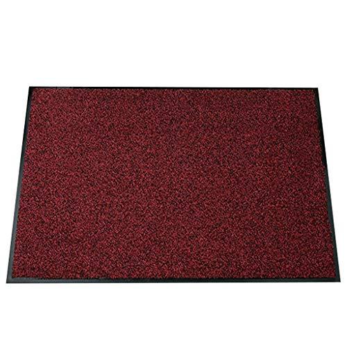 LIMING-tapijt vloermatten huisdeur buiten gepersonaliseerd, rubber deurmat dubbele mat - met rubberen bekleding, rood