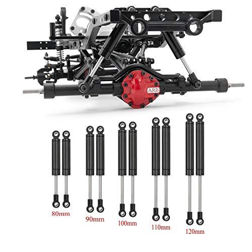 XUNJIAJIE 4 amortiguadores de radiocontrol, 100 mm, amortiguadores de impactos, muelle interno para 1/10 RC Crawlers Auto Axial SCX10 D90 TRX4 Wraith accesorios