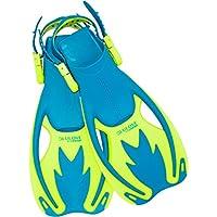 Cressi Rocks Kid Aletas, Unisex niños, Azul/Lime, L/XL