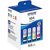 Epson C13T00P640 Tinta (4) cian, magenta, amarillo, negro 65 ml Botella, EcoTank 104