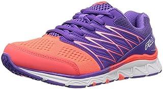 Fila Girls' GALLACTIC Skate Shoe Fiery Coral/Electric Purple/White 11.5 M US Little Kid [並行輸入品]