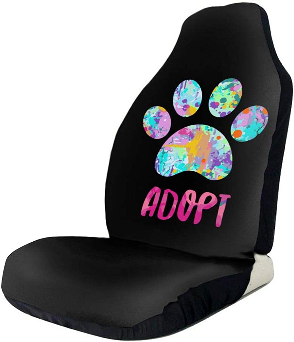 Recommendation Dog Paw discount Print Adopt Colorful Fashion Pattern Seat Auto Fu Covers