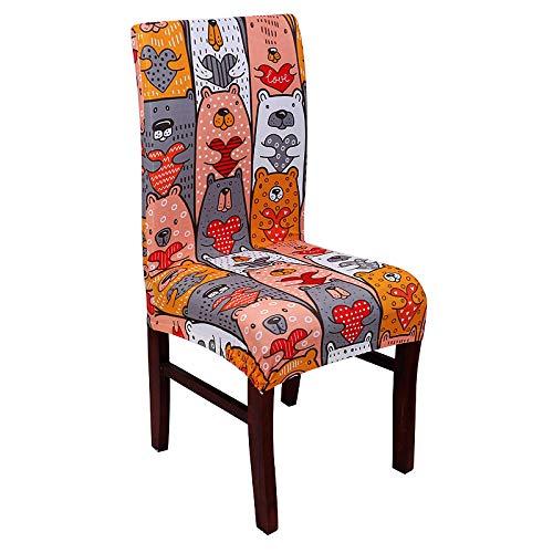 LZHLMCL Maschinenwaschbarer Stuhl Schonbezug Zeremonie Muster Spandex Stretch Stuhlbezug Blume Sitz Schutz Schonbezug Durable Office Dining Chair Fall 4Pcs