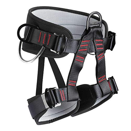 HandAcc Climbing Harness, Thicken Professional Half Body Safety Belt for Rock Climbing, Fire Rescue, Expanding Training and Other Outdoor Adventure Activities