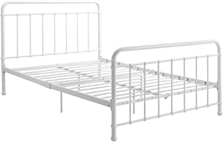 Best white metal full size bed Reviews