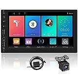 Android Autoradio 2 Din Navigation GPS CAMECHO 7 Pouces HD Écran Tactile Radio de Voiture avec Bluetooth WiFi USB/SD Récepteur FM Lien Miroir Lecteur multimédia de Voiture + Caméra de recul