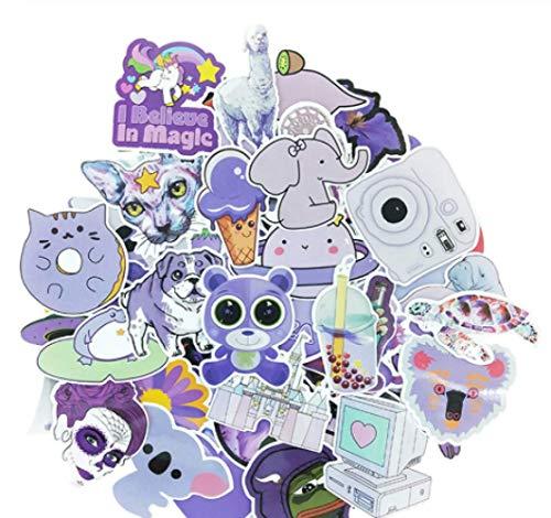 Purple graffiti cute cool waterproof gift set sticker DIY luggage bike helmet notebook skateboard toy sticker 61PCS