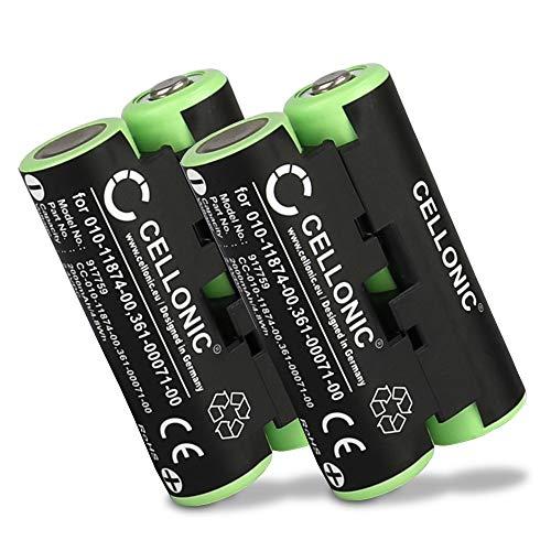CELLONIC 2X Qualitäts Akku kompatibel mit Garmin Striker 4 Oregon 600 600t, 650 650t 700 750 750t GPSMAP 64s Alpha 50 Atemos 50 Astro 430 320, 010-11874-00,361-00071-00 2000mAh Ersatzakku Batterie