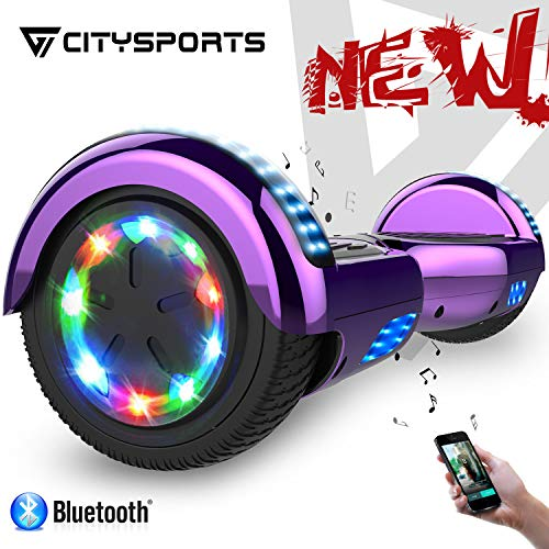 CITYSPORTS Hoverboard 6.5 '' con LED Flash Bluetooth