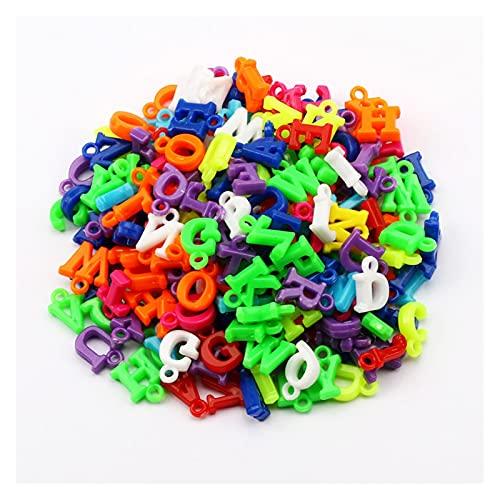 WanXingY 100 unids 14mm Color Mixto Perlas de acrílico Letras aleatorias Pulsera Pulsera Pendiente Hecho A Mano Joyería para niños DIY Producción (Color : Spring Color)