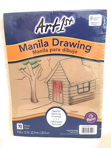 Pacon Art 1st Drawing Paper, 9' x 12', Manila (Pack of 70 Sheets)
