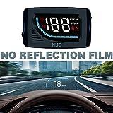 Car HUD Head Up Display Proiettore parabrezza da 3 pollici Interfaccia OBD II / EUOBD Plug...