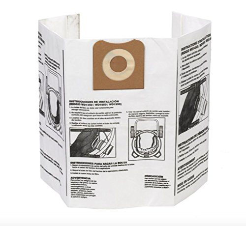 Ridgid - 23743 VF3502 High Efficiency, Dry Pickup Dust Bags for 12 - 16 Gallon Wet / Dry Vacuums (2 Pack)