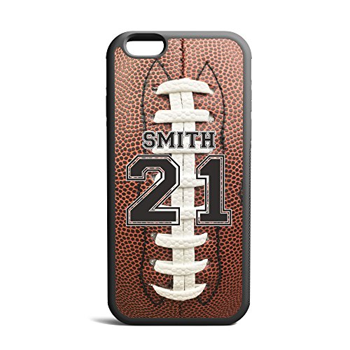 CodeiCases Compatible/Replacement Case Cover with Football Design and Custom Name and Number for iPhone 6/6s