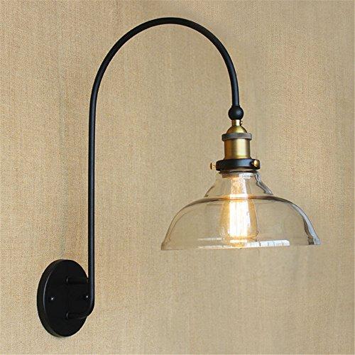 YU-K Chambre Simple Vintage wall lamp creative living salle à manger chambre lumières lumières allée grand luxe bras courbé/mur escalier couloir lampe applique murale décorative éclairage