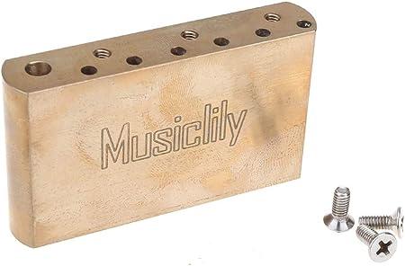 Musiclily Ultraブラス40mm 標準トレモロブロック 10.5mmピッチ インポートエレキギター用