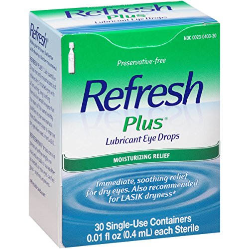 Refresh Plus Size 30 Ct Allergan Refresh Plus Eye Drops For Mild To Moderate Dry Eyes