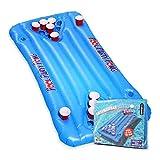 mikamax - Aufblasbarers Bier Pong – Large - Blau - Pool Luftmatratze – Inflatable Beer Pong -...