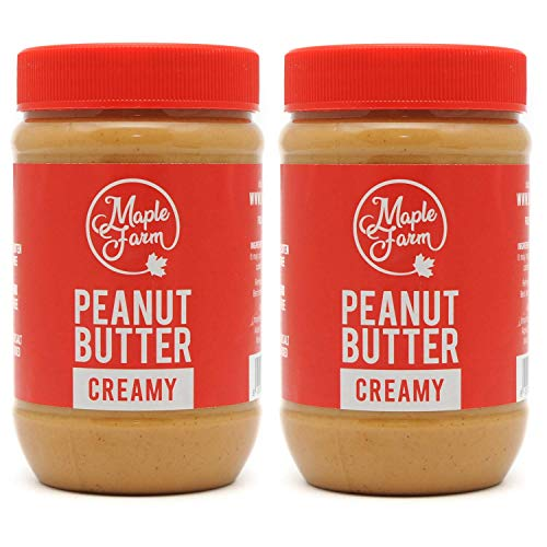 MapleFarm - Pure Peanut Butter Creamy - 1Kg (2x500g) - Gluten Free, All Natural, Single Origin, No Added Sugar, No Palm Oil