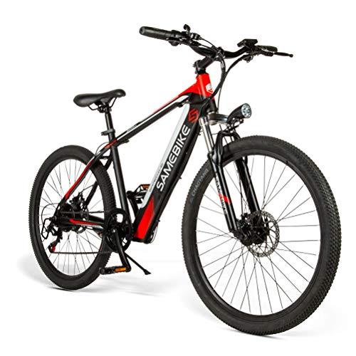 Samebike 26 Bicicleta de Montaña Eléctrica de Acero de Alto Carbono 36V 8Ah Bicicleta Eléctrica Recargable con Faro de Motor de 250 W