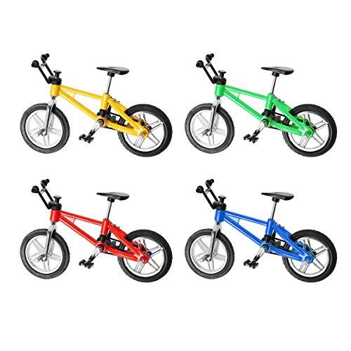 Toyvian Dedo Miniatura Modelo de Bicicleta de montaña de Juguete 1:18 Mini Juguetes creativos de aleación para niños, niños, niños - 4pcs