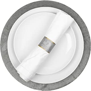 Koyal Wholesale Galvanized Metal Charger Plates, Set of 4, Modern Industrial Wedding Decor, Farmhouse Decor, Rustic Table ...