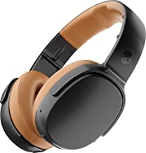 Skullcandy - Crusher 360 Wireless Over-The-Ear Headphones - Black/Tan (Renewed)
