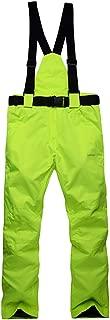 Womens Snow Pants Waterproof Insulated Men's Outdoor Warm Windproof Fleece Lined Ski Pants with Suspender