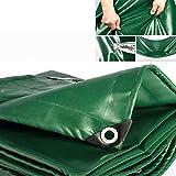 540g/㎡ PVC Lonas Impermeables Exterior Lona De Protección Tarea Pesada Cámping Refugios De Sol Resistente Al Clima Película Suave con Ojal Espesado 0.4mm,12 Tamaños,3.8 * 4.8m