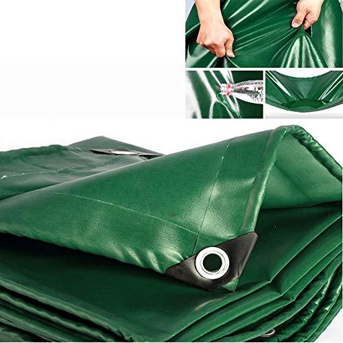540g/㎡ PVC Lonas Impermeables Exterior Lona De Protección Tarea Pesada Cámping Refugios De Sol Resistente Al Clima Película Suave con Ojal Espesado 0.4mm,12 Tamaños,7.7 * 9.7m