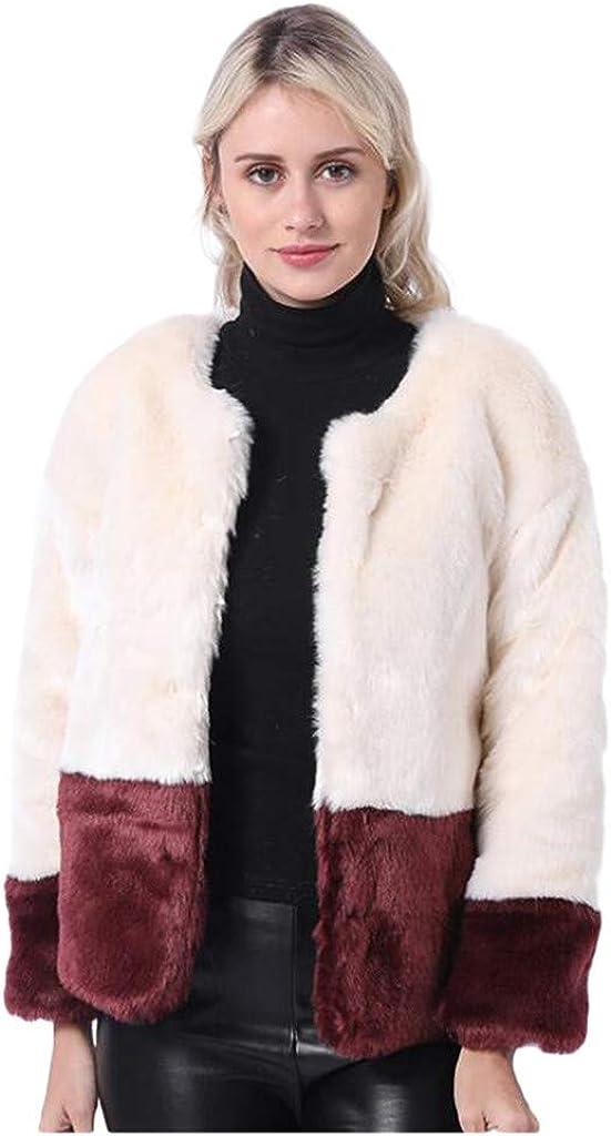 Teddy Bomber Jacket, NRUTUP Faux Fur Winter Coat in Color Blocks, Fluffy Jackets for Women, Teddy Bear Jackets for Winter