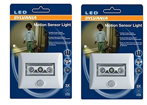 SYLVANIA LED Night Light with Motion Sensor and Auto On/Off (Pack of 2)