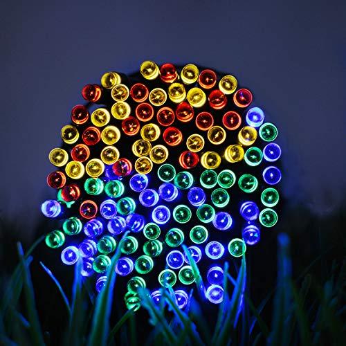 Lichtketting, decoratief, werkt op batterijen, voor slaapkamer, buiten, lichtketting, solar-lichtketting, roze, 12 m