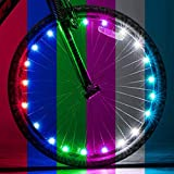 LeBoLike Bike LED Wheel Lights for Bike Spoke Decorations with Batteries Included 18 Modes 7 Colors Changing Over (1 Tire Pack)