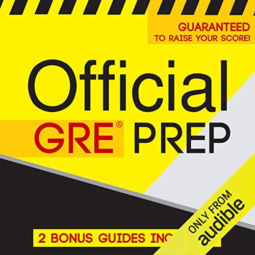 Official GRE Prep audiobook cover art