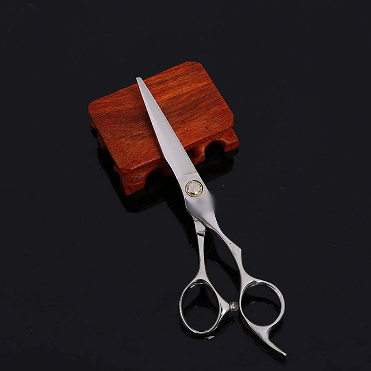 おとこエラー百万Goodsok-jp 6インチの美容院の専門の上限の理髪はさみの平らなせん断セット (色 : Silver)