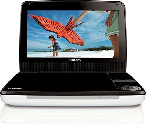 Philips PD9000/37 9-Inch LCD Portable DVD Player -Silver/Black (Renewed)